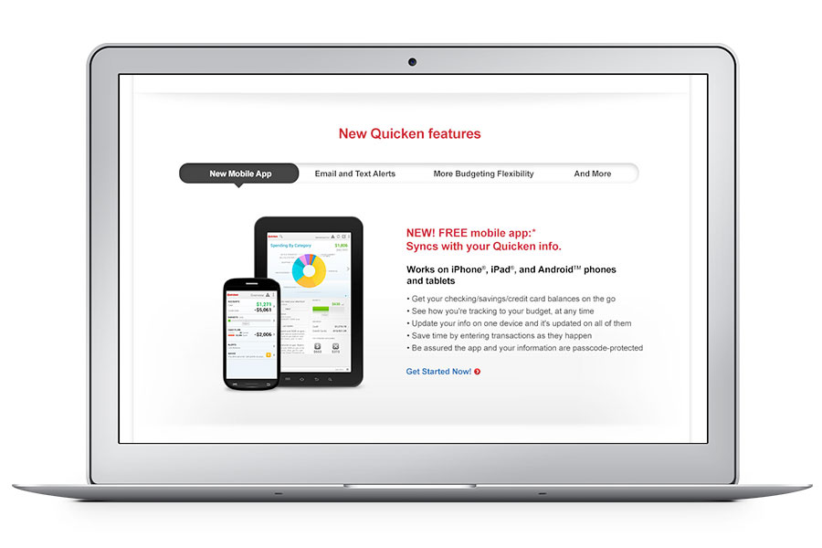 Quicken Landing Page by Ripcord Digital Inc.